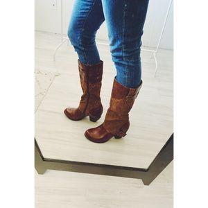 Qupid Vegan Leather Heeled Riding Boots